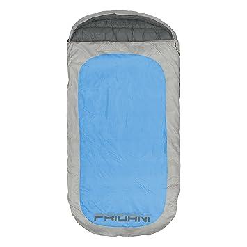 Fridani Manta Saco de Dormir PB 220 x 110 cm XXL Azul -18°C Repelente al Agua Caliente Lavable: Amazon.es: Deportes y aire libre