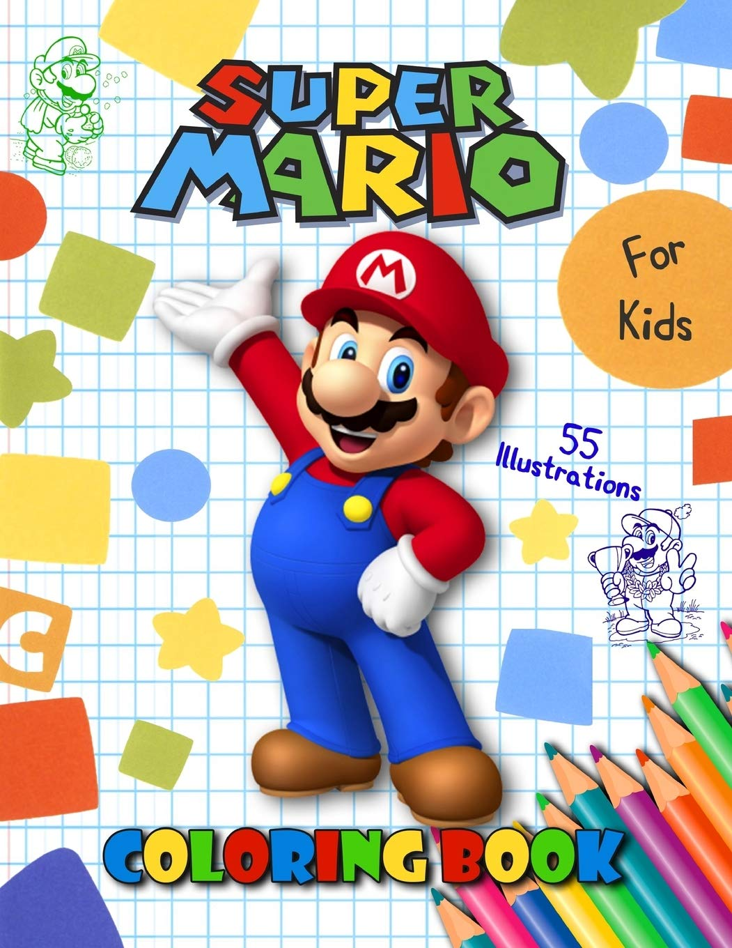 - SUPER MARIO: Jumbo Coloring Book For Kids & Toddlers , For Boys