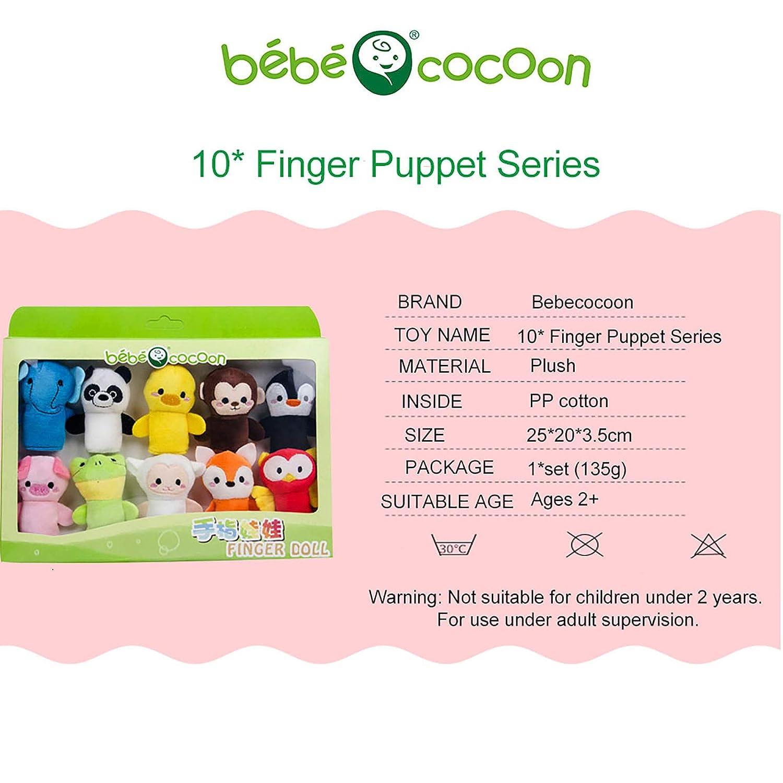 Puppen- & Kasperletheater Spielzeug Bebecocoon 10 Stck Tier ...