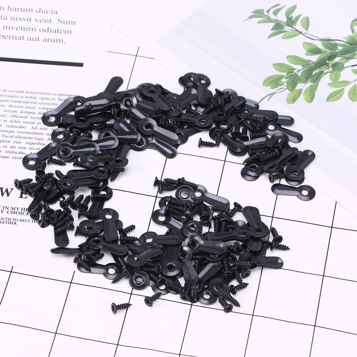 Schwarz Yardwe 100 ST/ÜCKE Bild H/ängen Kit Bild Kleiderb/ügel Haken N/ägel Schrauben und Hardware Rahmen Kleiderb/ügel Hardware f/ür Rahmen
