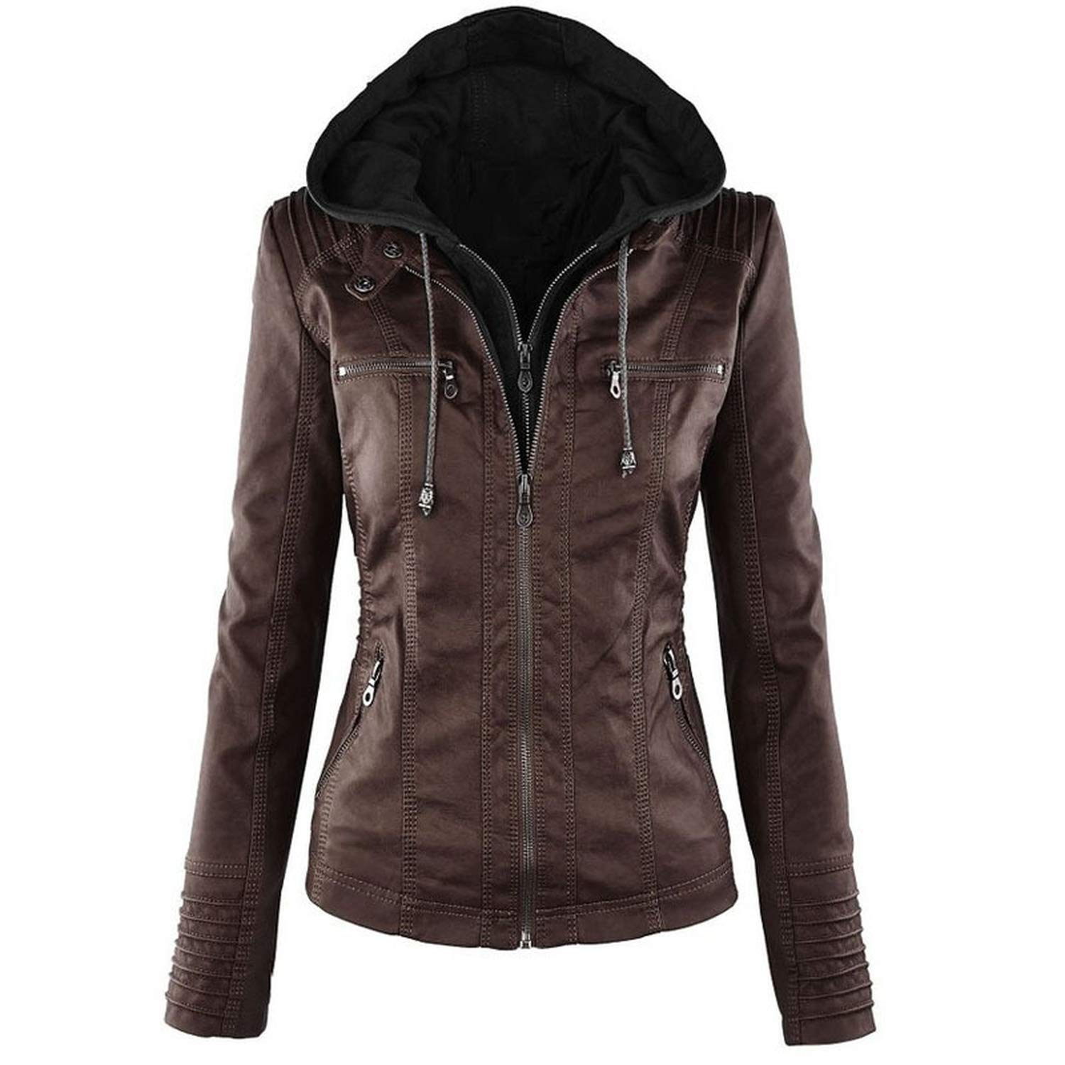 Chiced Leather Jacket Women Autumn Winter Outerwear Coat Lady Pu Leather Clothing Female Motorcycle Jackets