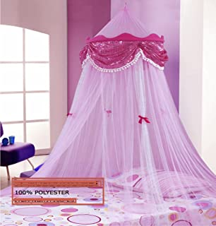 Princess Canopy By Sid Trading & Amazon.com: Princess Absolute Ruffle Princess Pink Canopy By Sid ...