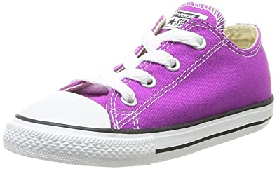 41672fe56d27 Image Unavailable. Image not available for. Color  Converse Girls  Chuck  Taylor All Star Ox - Purple Cactus Flower ...