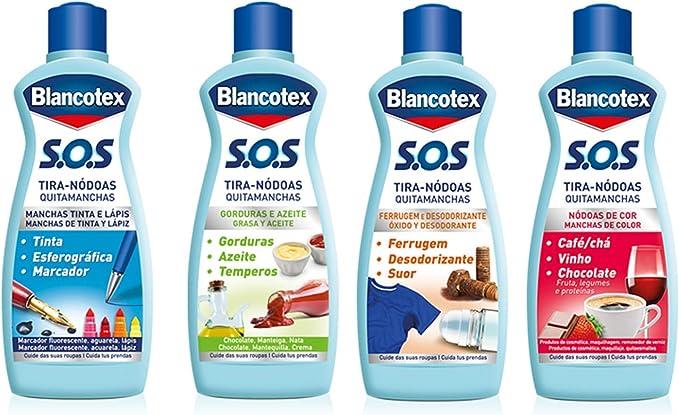 Blancotex Quitamanchas S.O.S. Grasa-Aceite 75 ml: Amazon.es ...