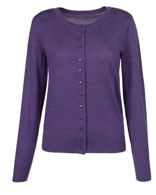 premium selection 0c992 cef6c Artigiano - Cardigan - Donna Purple XXL: Amazon.it ...