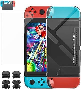 MoKo Funda + Pantalla Protectora Compatible con Nintendo Switch y ...