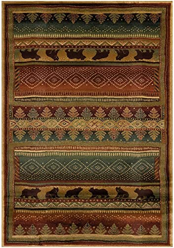 United Weavers of America Lodge Bearwalk Area Rug in Multicolor 3 ft. L x 1 ft. 10 in. W