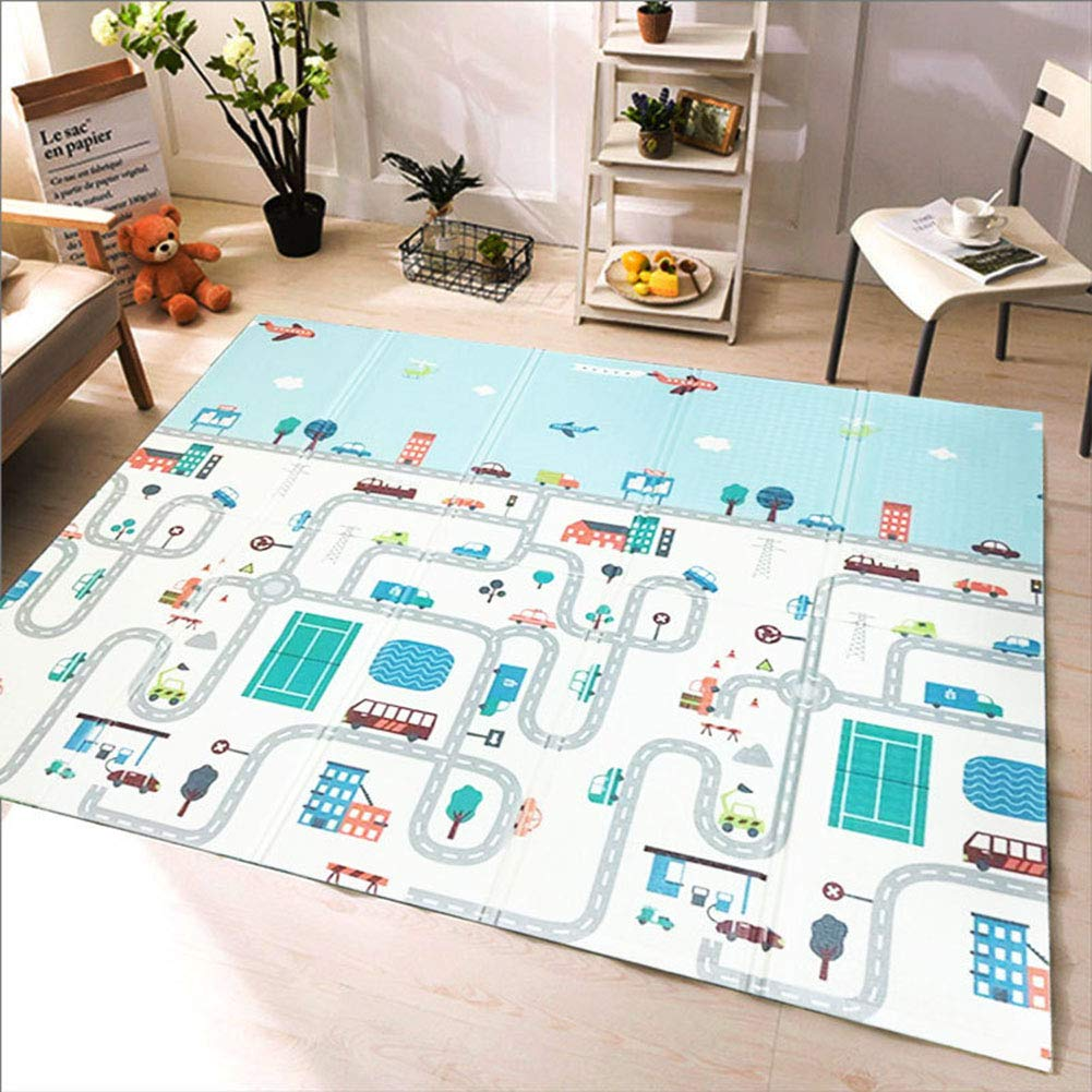 Playmat Toddler Double Sided Carpet Crawl Thicken Foam Play mat Moisture proof Thick Non Toxic Non Slip Portable gym Yoga 0.4'' Thickness