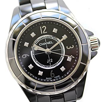63db3dd13168 CHANEL(シャネル) J12 レディース腕時計 8Pダイヤ 電池式 クォーツ ブラック 黒 ダイヤインデックス