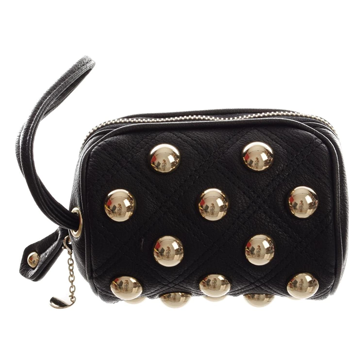 Twin-Set Beuty Case Rivet damen, accessori: borsa a mano, schwarz