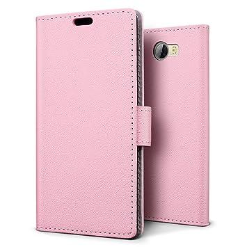 SLEO Funda para Huawei Y6 II Compact/Huawei Y5 II Cartera Carcasa Piel PU Suave Flip Folio Caja Super Delgado [Estilo Libro,Soporte Plegable y Cierre ...