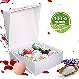 Skymore Set Bombe da Bagno, 100% Pure & Naturali Ingredienti, Top 9 Bombe Essenziali Olio, Aromaterapia, Rilassante e Idratante, Dono eccellente