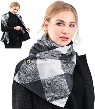 Scarf With 2 Hidden Zipper Pockets – 4 color options