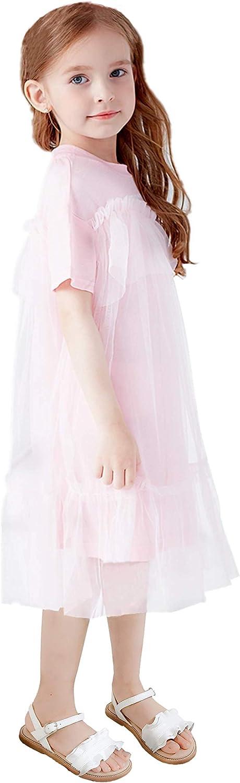 Otter MOMO Girls Sandals Open Toe Princess Flat Sandals with Ruffle Summer Sandals Toddler//Little Kid