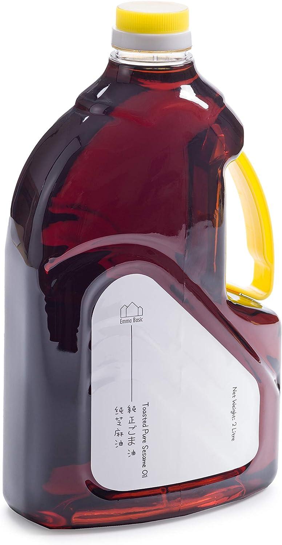 Aceite de Semilla de Sésamo Tostado de Emma Basic (2L) | 100% Puro | Beneficios Que Saben Bien | Comida Asiatico, Japones y Chino | Usos Versátiles | Ácidos de Grasa Poliinsaturados