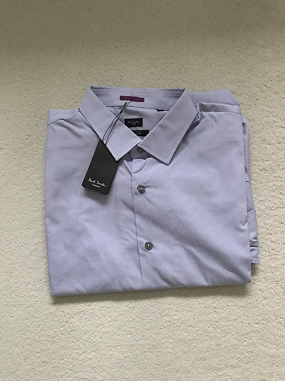 Paul Smith London Individual Puño Formal Manga Larga Slim Fit Camisa Lila: Amazon.es: Ropa y accesorios