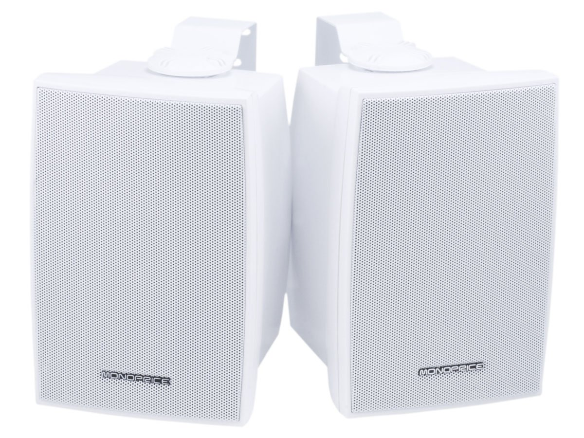 Monoprice 106971 5-1/4-Inch 40W Nominal and 80W Max 2-Way Indoor/Outdoor Waterproof Pair Speakers