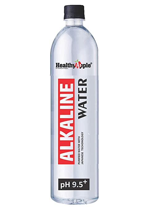 Healthy Apple Nano-Filtered Ionized Alkaline Water with pH Up to 9.5 | High Mineral Content and Antioxidants 1000 ml (Non-Carbonated Water Based Beverage) (10)