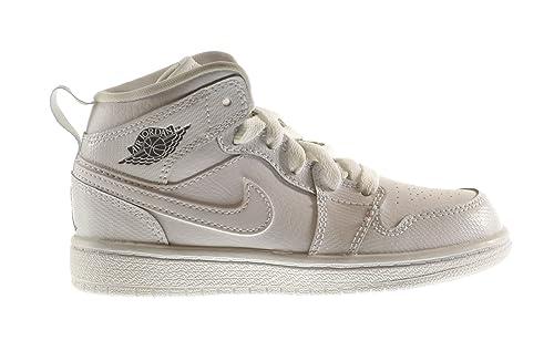 on sale b103e 32549 Jordan 1 Mid BP Little Kids Shoes White Cool Grey-White 640734-120