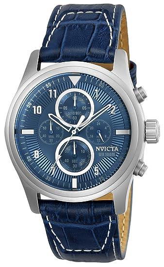 Invicta 22977 Aviator Reloj para Hombre acero inoxidable Cuarzo Esfera púrpura: Amazon.es: Relojes