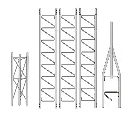 Amazon com: ROHN 25SS040 40' Self-Supporting Tower, No Ice