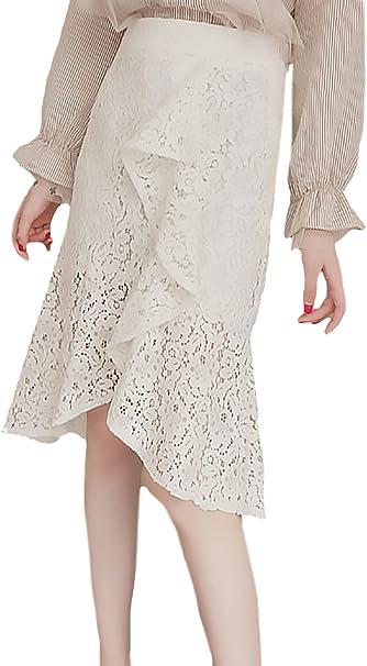 Falda Maxi Mujer Elegantes Primavera Otoño Cintura Alta Espumoso ...