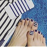 jovono falsa uñas de los pies corto Full Cover falsas uñas con pegamento para las mujeres
