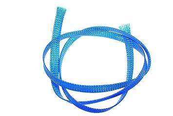 Tejido Trenzado Manguera Manguera Cable - ø8 mm Neon Azul por ...