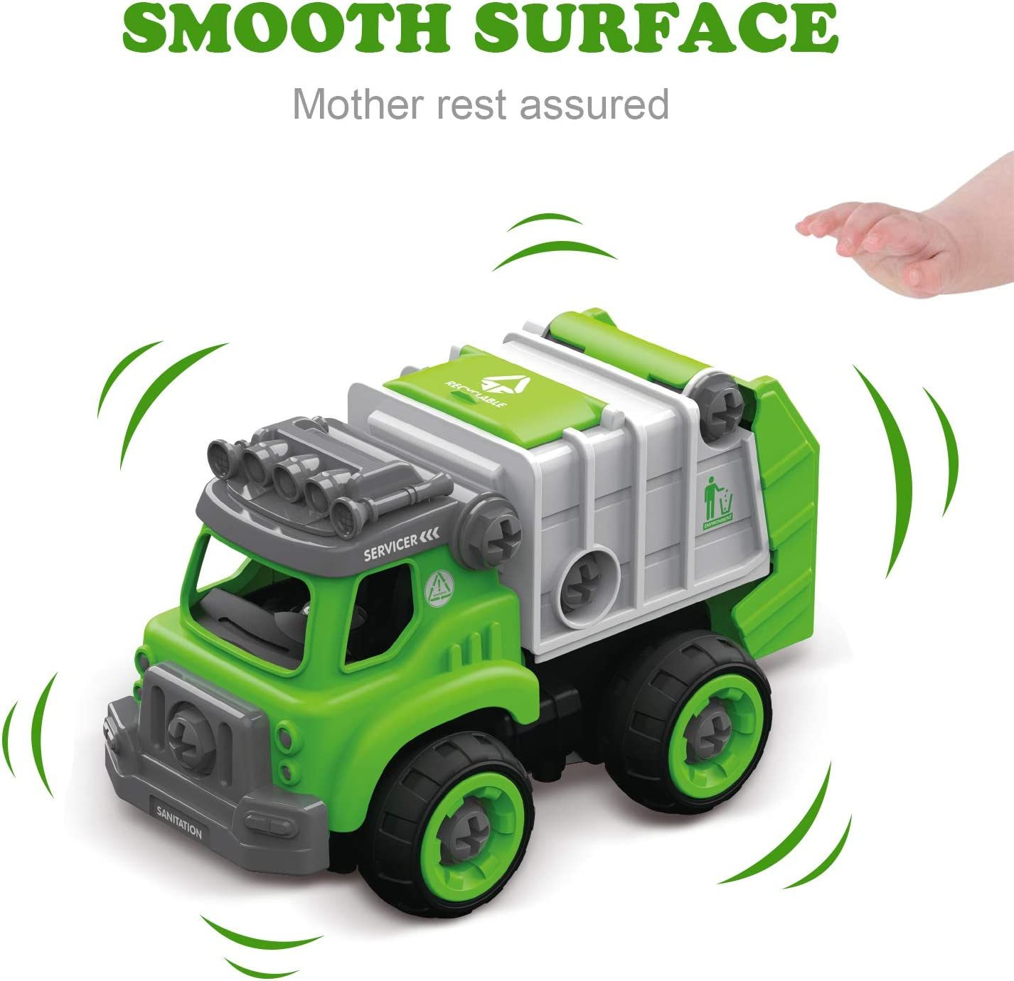 Mostop Take Apart Toys with Electric Drill 3 in 1 Remote Control Truck for Kids Building Sets Construction Truck Kit for Boys Girls Children