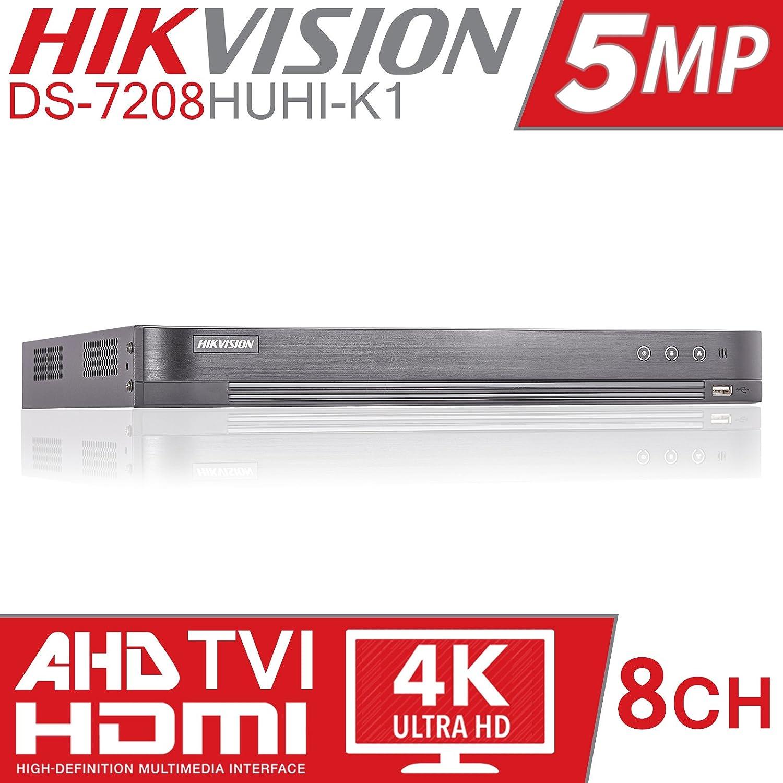 HIKVISION 5MP 8CH TURBO HD DVR 8 CHANNEL CCTV DIGITAL VIDEO RECORDER TVI  DS-7208HUHI-K1 (NO HDD)