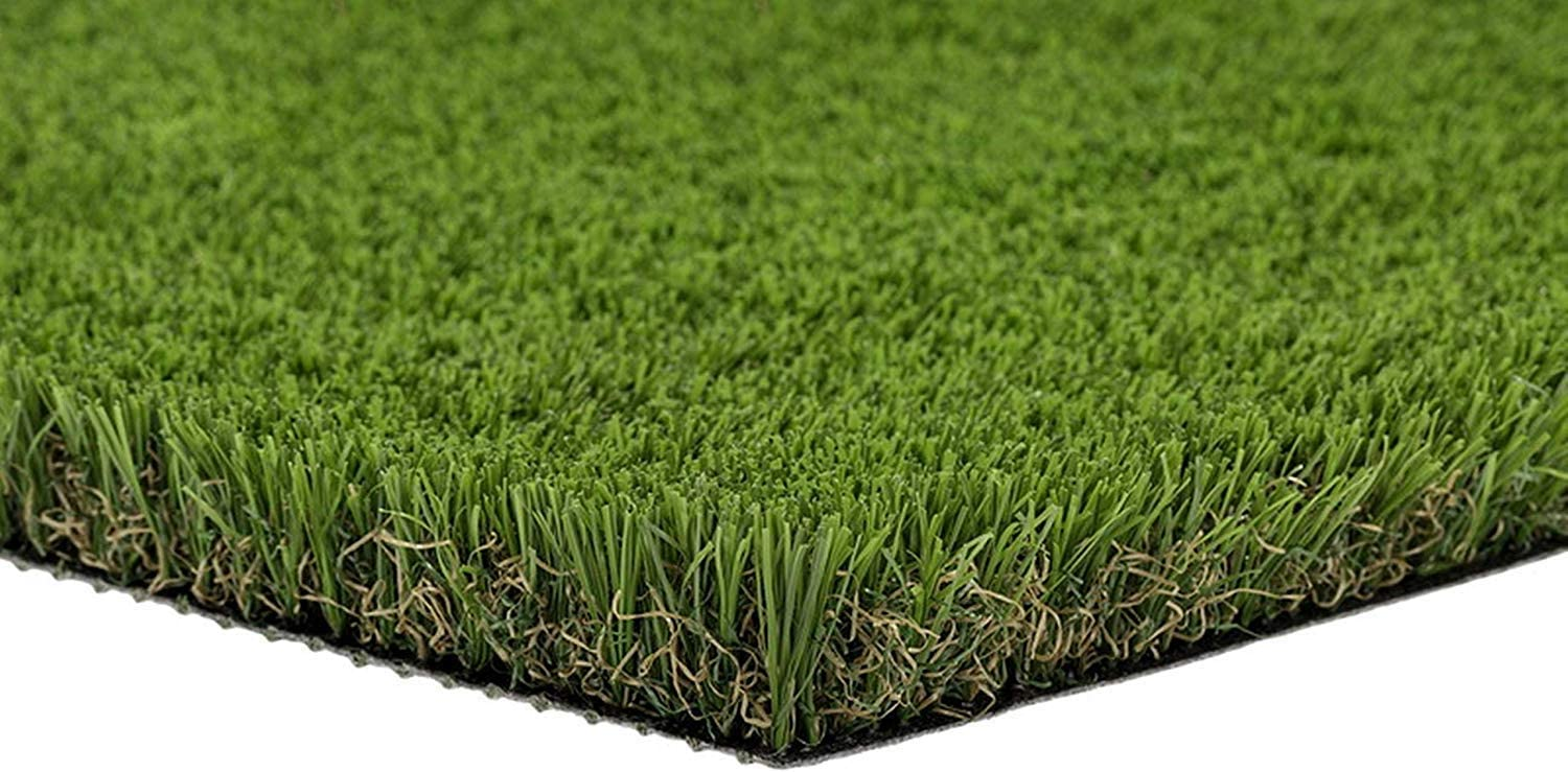 PZG Commerical Artificial Grass Patch w/ Drainage Holes & Rubber Backing | Extra-Heavy & Durable Turf | Lead-Free Fake Grass for Dogs or Outdoor Decor | Total Wt. - 94 oz & Face Wt. 62 oz