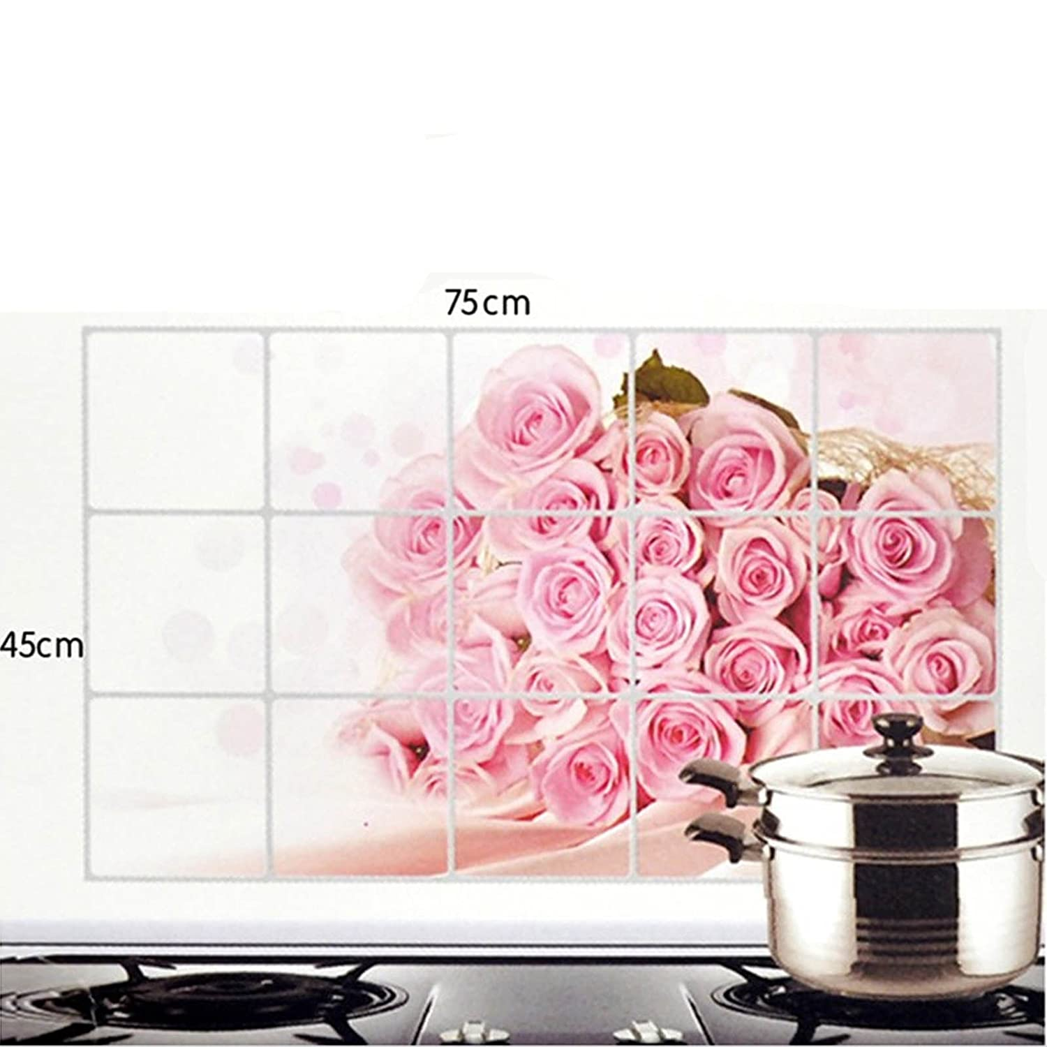 Buy Bulfyss Kitchen Wall Cover Stickers Water Proof Oil Proof and