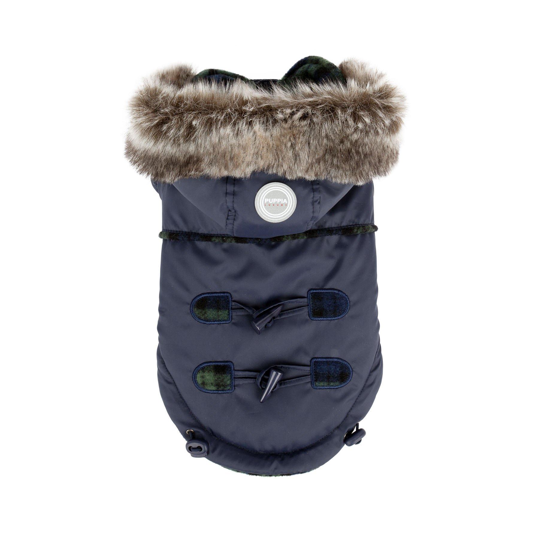 Puppia Authentic Lewis Winter Coat, Medium, Navy