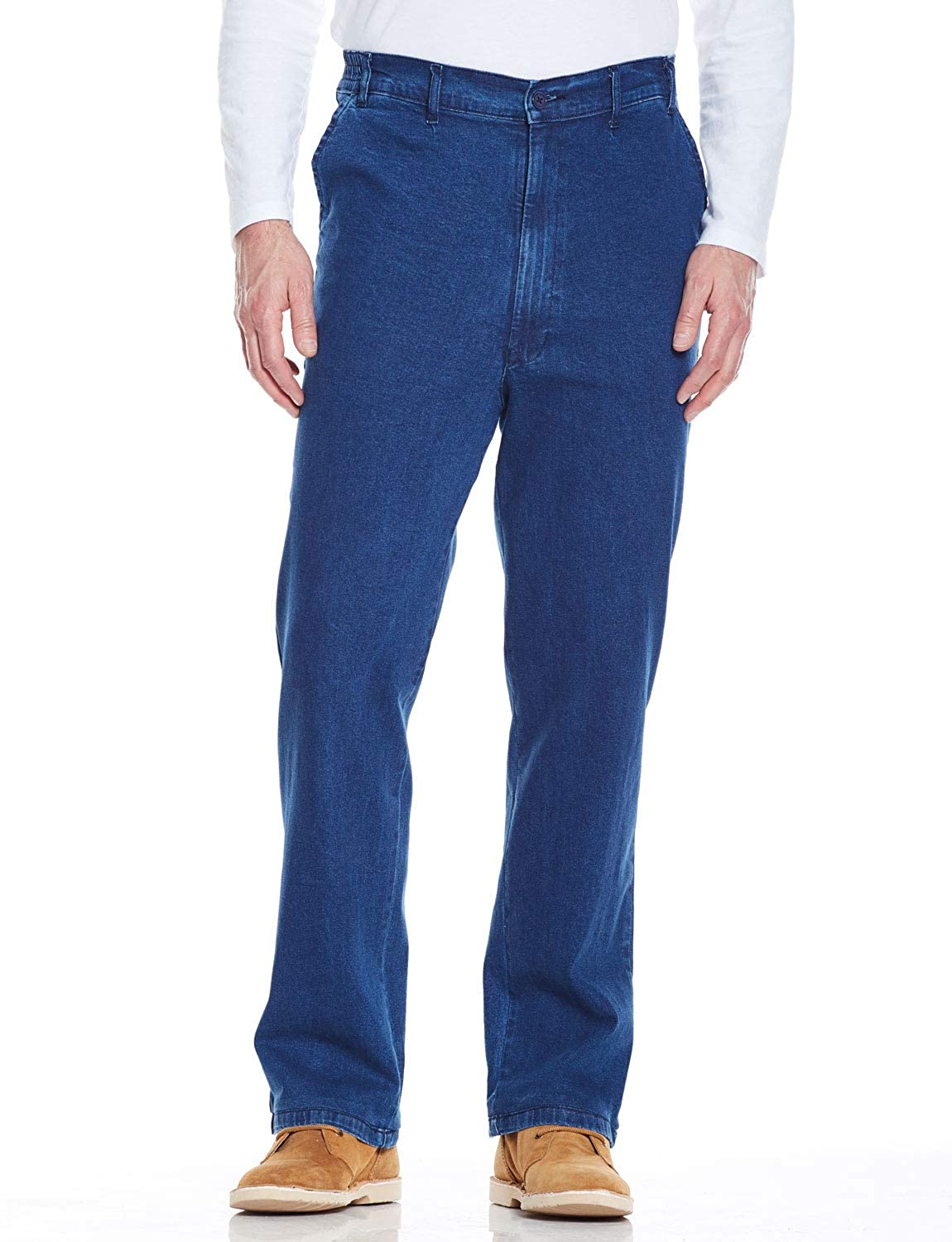 1950s Men's Clothing Mens HIGH-Rise Denim Elasticated Stretch Cotton Jean $54.32 AT vintagedancer.com