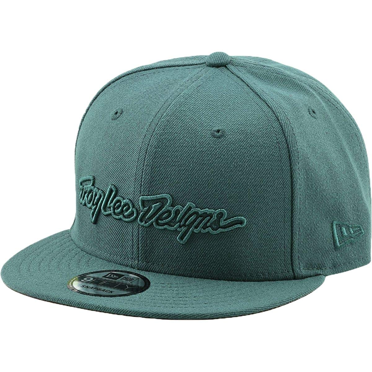 9072ef24964 Amazon.com  Troy Lee Designs Classic Signature Snapback Cap Blockworks Pine  Needle Green