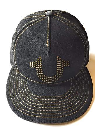 ea8209f7 Amazon.com: True Religion Men's Stud Horseshoe Cap, Black, One Size:  Clothing