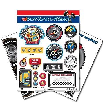 Buy Paper Box Pilots - Cardboard Box Race Car Stickers