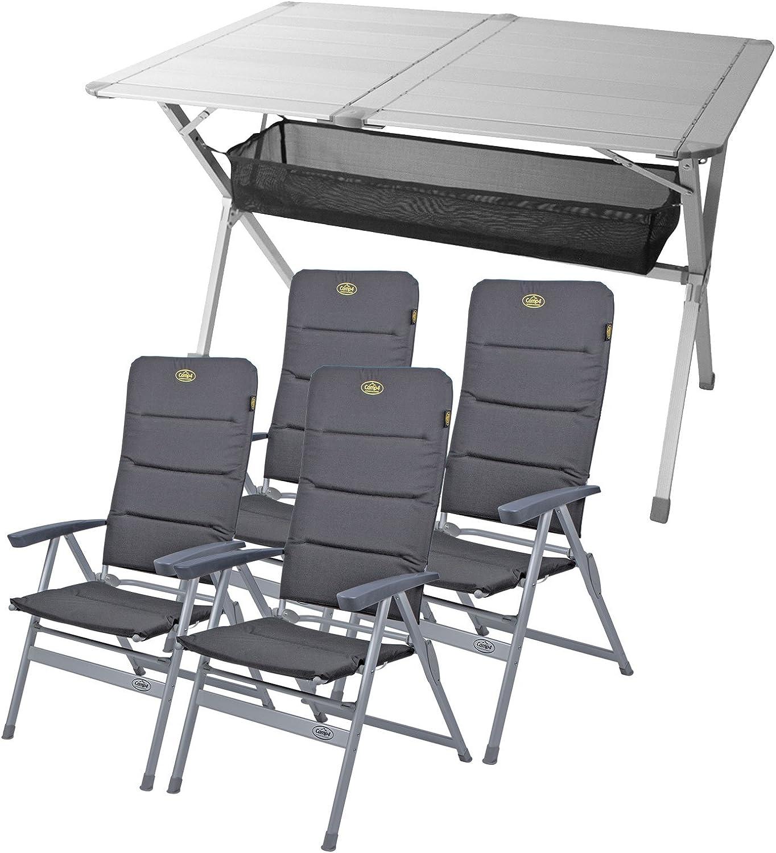 Juego de muebles de camping con mesa y 4 sillas Grenoble, 1 ...