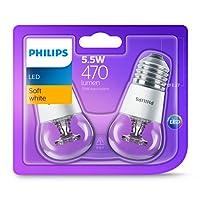 Philips LED Lustre (E27 Edison Screw 5.5W P45) - Warm White