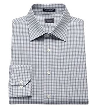 6c93123381757c Arrow Mens Classic Fit Spread Collar Dress Shirt Slate Grey Check (14 1/2