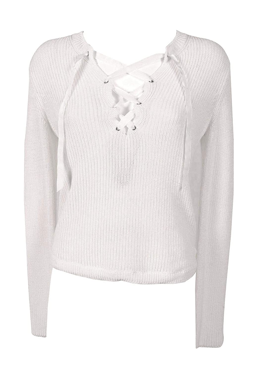 Twenty Easy By Kaos Women's FP037WHITE White Cotton Jumper