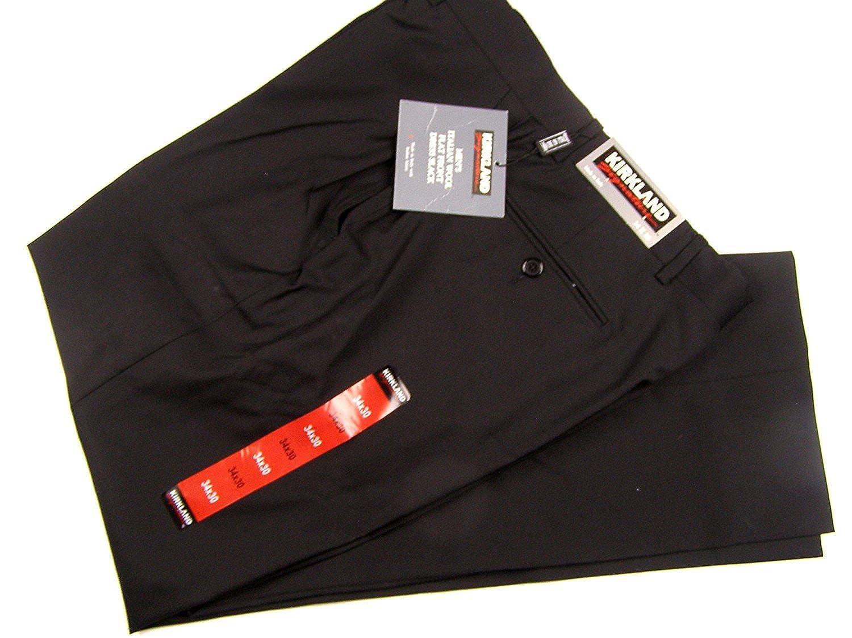 6298cfa2 Kirkland Signature Flat Front Men's Wool Dress Pants 34 x 30 Black