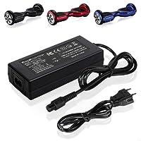 Kuyal 42V 2A Chargeur de batterie pour deux roues Mini Smart Scooter électrique Gyropode REVOE, Balance Monocycle Skateboard adaptateur d'alimentation utilisé pour charger 36V Lithium Ion Battery Pack