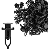 uxcell 100 Pcs Push-Type Automotive Clips Rivet Retainer Fender Bumper Fasteners Clips Ref 52161-02020 for Toyota