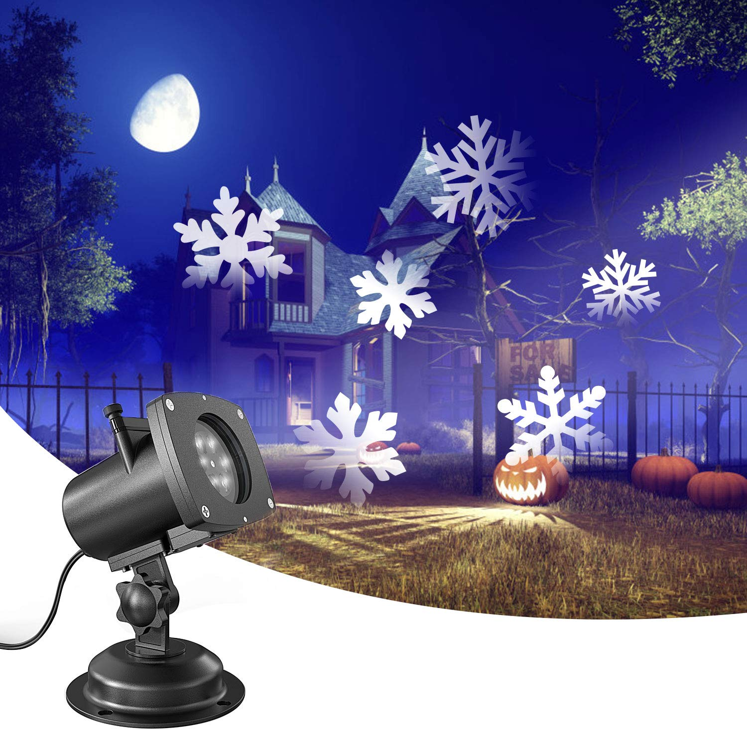Amazon Christmas Snowflake Projector Lights Outdoor OxyLED 12