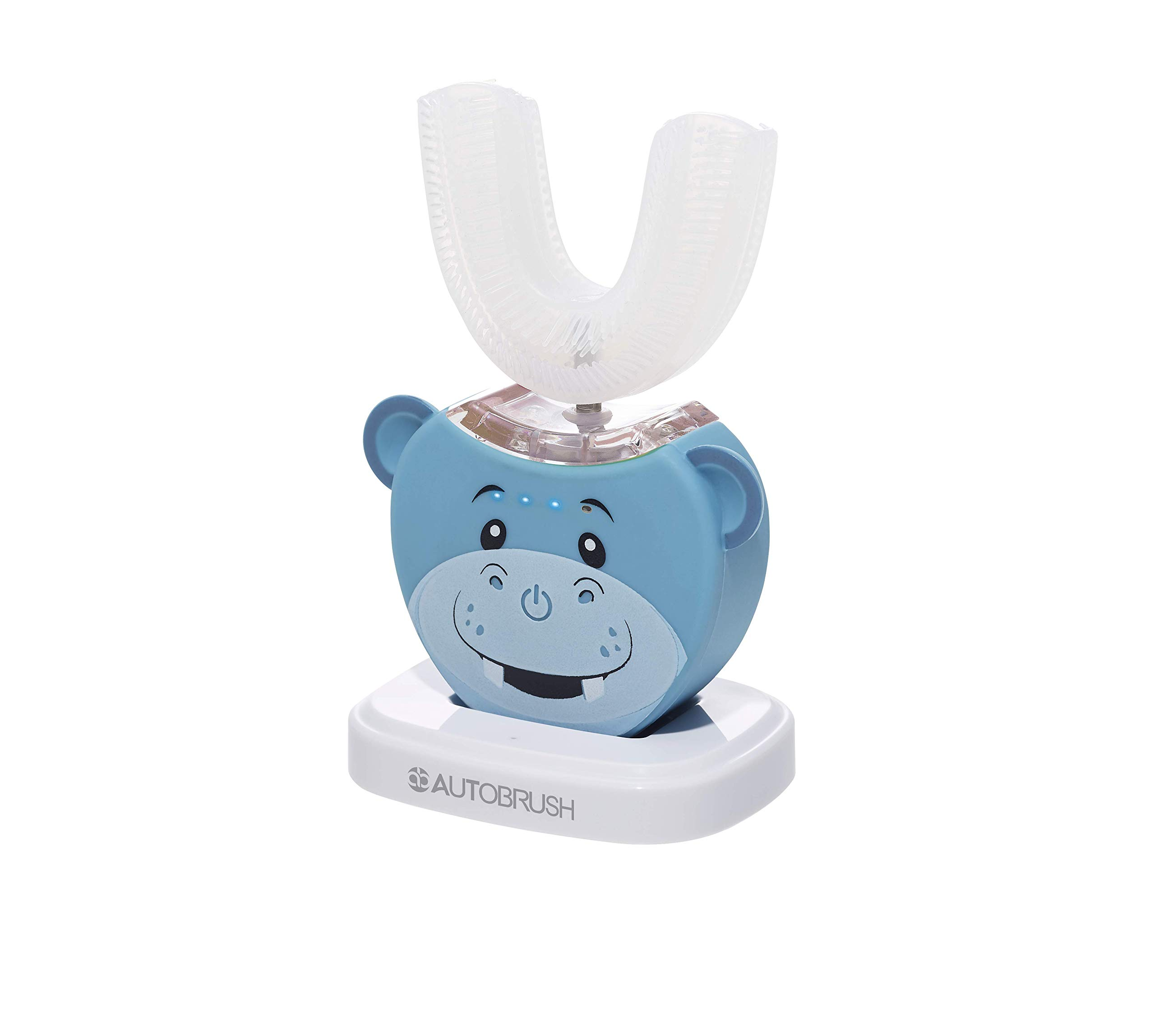 AutoBrush Kids Electric Toothbrush V3 New & Improved!   Soft Bristles Specially Designed for Toddlers and Kids   4 Jungle Characters to Choose from! Fun While You Brush! (Hippo 8+ Years) by AutoBrush
