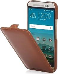 StilGut UltraSlim, Housse en Cuir pour HTC One M9, en Cognac