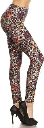Leggings Depot Women's Ultra Soft Printed Fashion Leggings BAT7