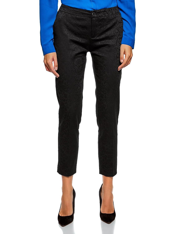 oodji Collection Women's Slim-Fit Jacquard Trousers RIFICZECH s.r.o. 21706026