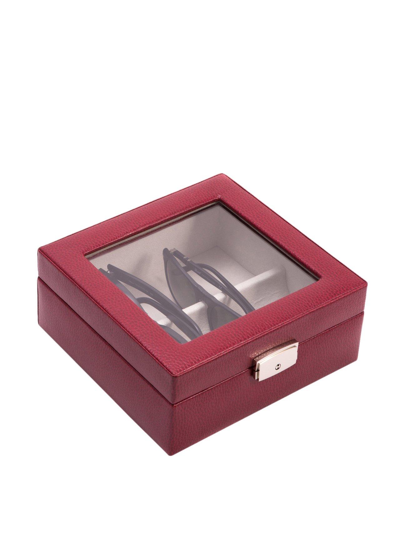 Bey Berk Harper Leather Eyewear Storage Case Red